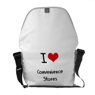 I love Convenience Stores Messenger Bags