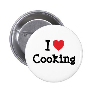 I love Cooking heart custom personalized 2 Inch Round Button