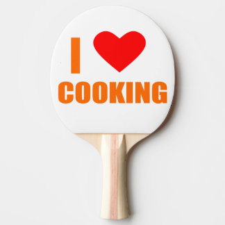 i love cooking ping pong paddle