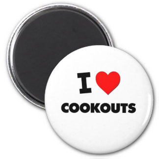 I love Cookouts 2 Inch Round Magnet