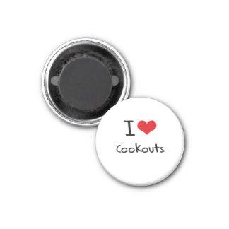 I love Cookouts Fridge Magnets