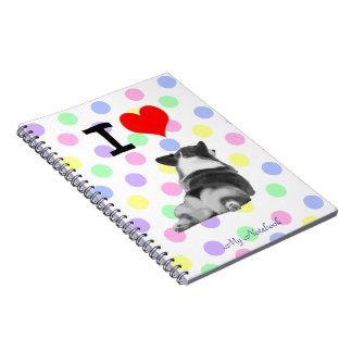I Love Corgi Butts Notebook