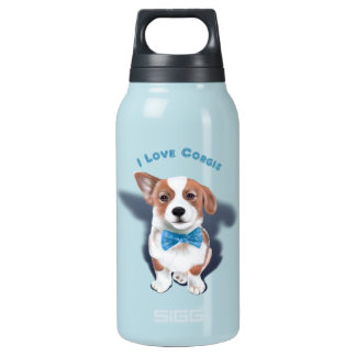 I Love Corgis Insulated Water Bottle