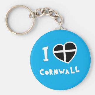 I love Cornwall Keychain