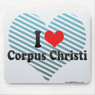 I Love Corpus Christi Mouse Pad