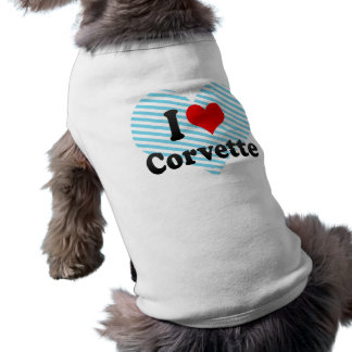 I love Corvette Pet T Shirt