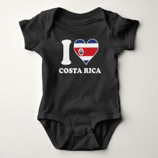 I Love Costa Rica Costa Rican Flag Heart Baby Bodysuit