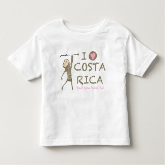 I Love Costa Rica Sloth Manuel Antonio Souvenir Toddler T-shirt