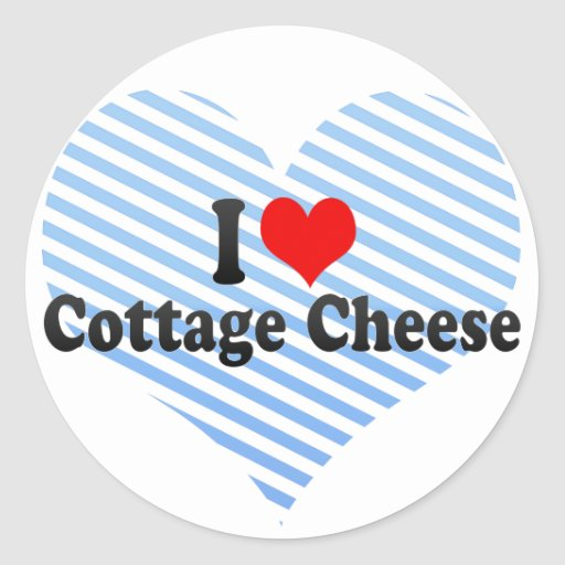 I Love Cottage Cheese Stickers