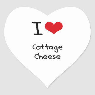 I love Cottage Cheese Heart Stickers