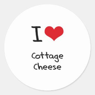 I love Cottage Cheese Round Sticker