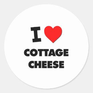 I love Cottage Cheese Classic Round Sticker