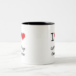 I love Cottage Cheese Two-Tone Mug