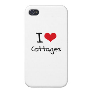 I love Cottages Covers For iPhone 4