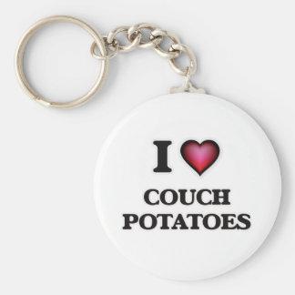 I love Couch Potatoes Keychain