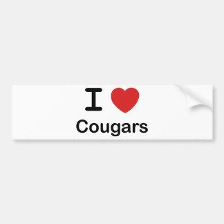 I Love Cougars Bumper Sticker