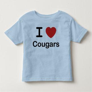 I Love Cougars Toddler T-shirt