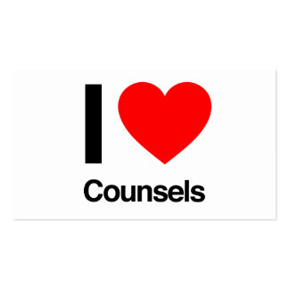 i love counsels pack of standard business cards