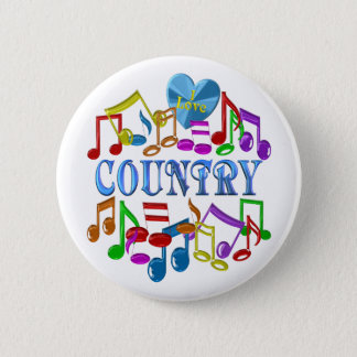 I Love Country 2 Inch Round Button
