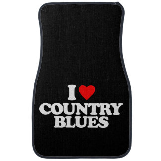 I LOVE COUNTRY BLUES CAR LINERS