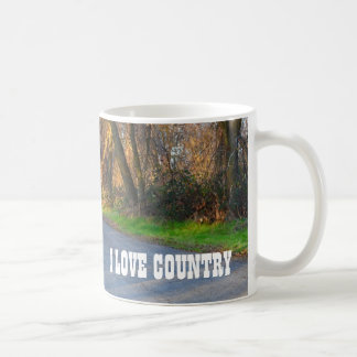 I Love Country Coffee Mug