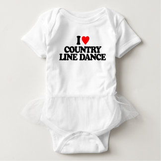 I LOVE COUNTRY LINE DANCE BABY BODYSUIT