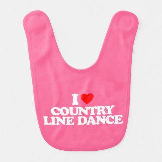 I LOVE COUNTRY LINE DANCE BIB