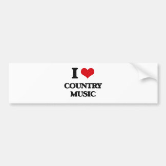 I love Country Music Bumper Stickers