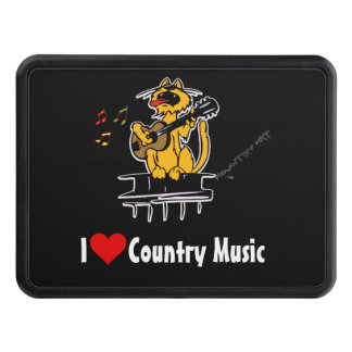 I love Country music by Kountry Kat Trailer Hitch Cover