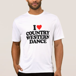 I LOVE COUNTRY WESTERN DANCE T-Shirt