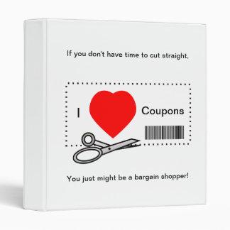 I Love Coupons - Bargain Shopping Humor Vinyl Binder