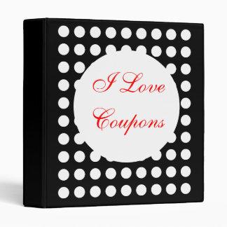 I Love Coupons Vinyl Binders