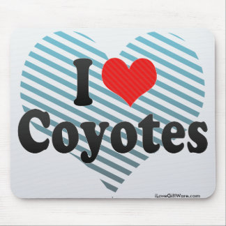 I Love Coyotes Mouse Pad