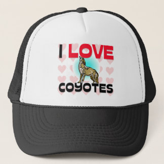 I Love Coyotes Trucker Hat