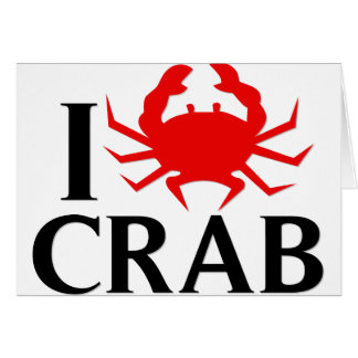 I Love Crab Card