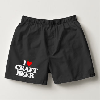 I LOVE CRAFT BEER BOXERS