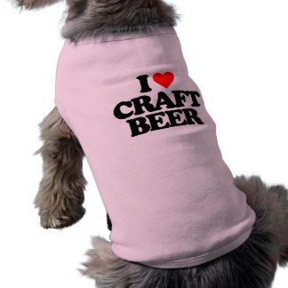 I LOVE CRAFT BEER DOGGIE TSHIRT