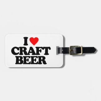 I LOVE CRAFT BEER TAGS FOR LUGGAGE
