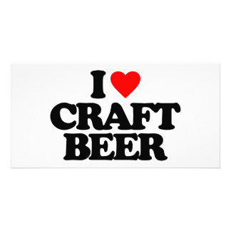 I LOVE CRAFT BEER PHOTO CARD TEMPLATE
