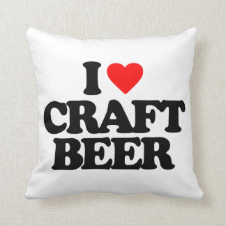 I LOVE CRAFT BEER PILLOW