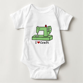 I Love Craft- Kawaii Sewing Machine Baby Bodysuit