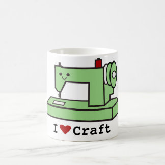 I Love Craft- Kawaii Sewing Machine Coffee Mug