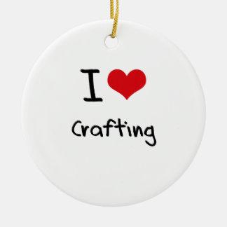 I love Crafting Ceramic Ornament
