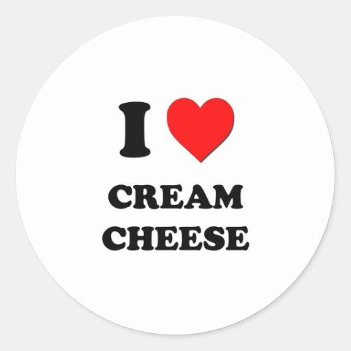I love Cream Cheese Round Sticker