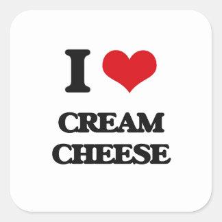I love Cream Cheese Square Sticker