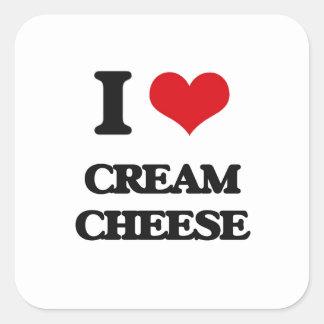 I love Cream Cheese Square Stickers