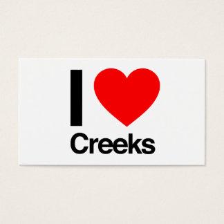 i love creeks business card