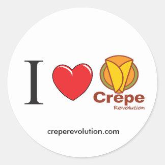 I LOVE CREPEREVOLUTION CLASSIC ROUND STICKER