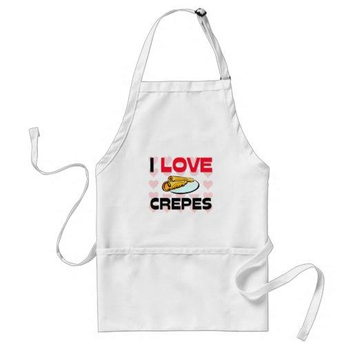 I Love Crepes Apron
