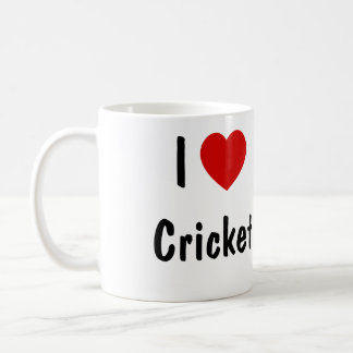I Love Cricket Coffee Mug